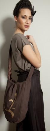 City Girl Tote by Aidah - Cross Body - Handmade Handpainted
